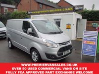 2014 FORD TRANSIT CUSTOM 2.2 270 LIMITED, SHORT WHEEL BASE, LOW ROOF, 125 BHP, METALLIC SILVER, TOP SPEC, LOW MILES, CHOICE OF LIMITED TRANSITS  £10550.00