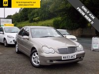 USED 2003 53 MERCEDES-BENZ C CLASS 2.1 C220 CDI ELEGANCE SE 4d AUTO 143 BHP GENUINE LOW MILEAGE EXAMPLE, LONG MOT UNTIL 06/2018, JUST BEEN SERVICED!!