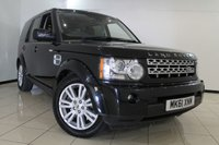 USED 2011 61 LAND ROVER DISCOVERY 3.0 4 SDV6 XS 5DR AUTOMATIC 255 BHP HEATED LEATHER SEATS + FULL SERVICE HISTORY + SAT NAVIGATION + PARKING HEATING WITH REMOTE CONTROL + 7 SEATS + PARKING SENSORS + BLUETOOTH