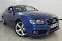 USED 2011 60 AUDI A5 2.0 TFSI S LINE 2DR 178 BHP SERVICE HISTORY + LEATHER SEATS + PARKING SENSOR + BLUETOOTH + CRUISE CONTROL + MULTI FUNCTION WHEEL