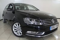 USED 2013 63 VOLKSWAGEN PASSAT 2.0 HIGHLINE TDI BLUEMOTION TECHNOLOGY 4DR 139 BHP SERVICE HISTORY + CLIMATE CONTROL + PARKING SENSORS + BLUETOOTH + CRUISE CONTROL + MULTI FUNCTION WHEEL