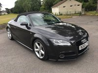 USED 2011 60 AUDI TT 2.0 TFSI S LINE 2d AUTO 211 BHP FACE LIFT CAR WITH ONLY 50000 MILES AND FSH AUTOMATIC ALLOYS S-LINE CONVERTIBLE
