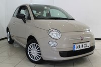 USED 2014 14 FIAT 500 1.2 MULTIJET POP 3DR 95 BHP FULL FIAT SERVICE HISTORY + AIR CONDITIONING + RADIO/CD + ELECTRIC WINDOWS + ELECTRIC MIRRORS + START/STOP SYSTEM