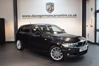 USED 2011 60 BMW 1 SERIES 2.0 118D M SPORT 5DR 141 BHP + HALF BLACK LEATHER INTERIOR + BMW SERVICE HISTORY + SPORT SEATS + CLIMATE CONTROL + REVERSE CAMERA + LIGHT PACKAGE + PARKING SENSORS + 17 INCH ALLOY WHEELS +
