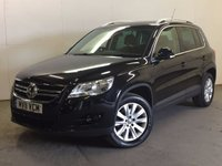 USED 2011 11 VOLKSWAGEN TIGUAN 2.0 MATCH TDI 4MOTION DSG 5d AUTO 138 BHP RARE AUTO 4WD. STUNNING BLACK MET WITH CONTRASTING BLACK CLOTH TRIM. CRUISE CONTROL. 17 INCH ALLOYS. COLOUR CODED TRIMS. PRIVACY GLASS. PARKING SENSORS. BLUETOOTH PREP. MULTIMEDIA SCREEN. CLIMATE CONTROL. TRIP COMPUTER. R/CD/MP3 PLAYER. MOT 02/18. FULL SERVICE HISTORY. PRISTINE CONDITION. FCA FINANCE APPROVED DEALER. TEL: 01937 849492.
