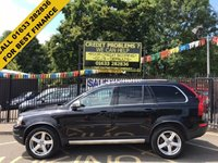 USED 2011 61 VOLVO XC90 2.4 D5 R-DESIGN AWD 5d AUTO 200 BHP 1 OWNER, FULL SERVICE HISTORY, STUNNING, STUNNING BLACK PAINT WORK, LOVELY CALCITE SPORTS LEATHER INTERIOR, 7 SEATER, R DESIGN ALLOY WHEELS, AIRCON, PARKING SENSORS, MEMORY DRIVERS SEAT