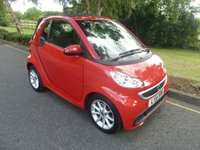 USED 2014 14 SMART FORTWO CABRIO 1.0 PASSION MHD 2d AUTO 71 BHP FANTASTIC LOW MILEAGE SMART CABRIOLET IN BRIGHT RED WITH SATELLITE NAVIGATION, AUTOMATIC GEARBOX, AIR CONDITIONING ALLOY WHEELS AND SERVICE HISTORY