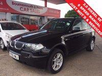 2005 BMW X3 2.0 D SE 5d 148 BHP 6 SPEED MANUAL £4495.00