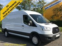 USED 2015 64 FORD TRANSIT 2.2TDCi 125 350 L3 H2 Lwb Medium roof van RWD Delivery T,B,A