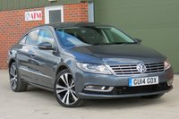 USED 2014 14 VOLKSWAGEN CC 2.0 GT TDI BLUEMOTION TECHNOLOGY DSG 4d AUTO 138 BHP AUTOMATIC, FULL LEATHER, BLUETOOTH, FINANCE AVAILABLE