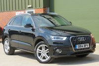 USED 2014 14 AUDI Q3 2.0 TDI QUATTRO S LINE 5d 174 BHP 18 INCH ALLOYS, BLUETOOTH, HALF LEATHER, FINANCE AVAILABLE