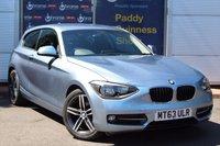 USED 2013 63 BMW 1 SERIES 1.6 114D SPORT 3d 94 BHP