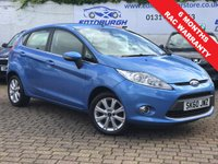 USED 2010 60 FORD FIESTA 1.2 ZETEC 5d 81 BHP PRICE INCLUDES A 6 MONTH RAC WARRANTY, 1 YEARS MOT WITH AND 12 MONTHS FREE BREAKDOWN COVER