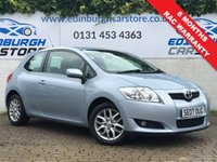 USED 2007 07 TOYOTA AURIS 1.6 TR VVT-I MM 3d AUTO 122 BHP PRICE INCLUDES A 6 MONTH RAC WARRANTY, 1 YEARS MOT AND A OIL & FILTERS SERVICE. 12 MONTHS FREE BREAKDOWN COVER