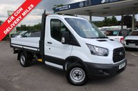 USED 2017 17 FORD TRANSIT 2.0 310 C/C DRW 1d 104 BHP As New! Only 190 Miles, Dropside, Air Conditioning.