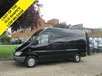 USED 2006 56 MERCEDES-BENZ SPRINTER 2.1 311CDI MWB HIGH ROOF. BLACK. RARE COLOUR MODEL. PX  RARE COLOUR. LAST OF THE OLD SHAPES. PX WELCOME