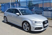 USED 2014 14 AUDI A3 2.0 TDI S LINE 5d 148 BHP Rear Side Airbags, Hold Assist, Light and Rain Sensor Package, Audi Sound System, Comfort Package, Metallic Paint, Cruise Control, DAB Digital Radio, Seat - ISOFIX Anchorage Point - Three Seats - Front & Rear, Central Door Locking - Remote, Immobiliser, Alarm - Unspecified, Anti-Lock Brakes, Power-Assisted Steering, Head Air Bags - Front/Rear, Child Locks - Manual, Electronic Brake Force Distribution, Third Brake Light, Exterior Lighting - Xenon Headlights, Front Fog Lights, Head Restraints - Fr