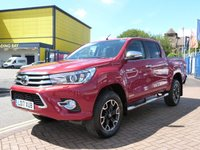 USED 2017 17 TOYOTA HI-LUX 2.4D-4D Invincible X Double Cab Pickup TOP OF THE RANGE MODEL ~ FULL SPEC ~ SAT NAV ~ FULL HEATED LEATHER ~ REVERSE CAMERA ~ BLUETOOTH ~ LOAD LINER ~ ALUMINIUM ROLL AND LOCK COVER