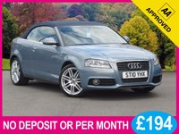 USED 2010 10 AUDI A3 1.8 TFSI S LINE 2dr 158 BHP CONVERTIBLE LEATHER 18 INCH ALLOYS