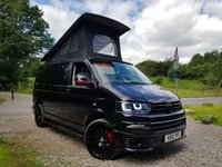 2012 VOLKSWAGEN TRANSPORTER 2.0 T30 T5 4 BERTH CAMPERVAN 140 BHP BED AIR CON FRIDGE 240V £31995.00