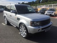 USED 2005 55 LAND ROVER RANGE ROVER SPORT 2.7 TDV6 HSE 5d AUTO 188 BHP FSH, just had major service including timing belt. Spec inc 22 inch Stormer alloys