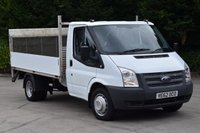 USED 2012 62 FORD TRANSIT 2.2 350 DRW 2d 100 BHP RWD MWB REAR LIFT DIESEL MANUAL DROPSIDE LORRY ONE OWNER S/HISTORY EURO 5 ECO START STOP