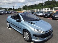 USED 2002 52 PEUGEOT 206 CC 1.6 COUPE CABRIOLET 16V  Only 67,000 miles with FSH 12 stamps, cambelt at 64,000 miles