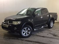 USED 2011 11 MITSUBISHI L200 2.5 DI-D 4X4 BARBARIAN LB DCB 1d 175 BHP LEATHER SIDE STEPS PRIVACY FSH NO VAT ( NO VAT ). 4WD. STUNNING BLACK MET WITH FULL BLACK LEATHER BARBARIAN TRIM. CRUISE CONTROL. SIDE STEPS. AIR CON. 17 INCH ALLOYS. COLOUR CODED TRIMS. PRIVACY GLASS. PAS. EW. MFSW. MOT 07/18. ONE PREV OWNER. FULL SERVICE HISTORY. FCA FINANCE APPROVED DEALER. TEL 01937 849492