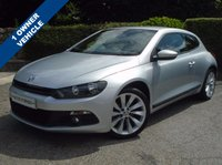 USED 2014 63 VOLKSWAGEN SCIROCCO 2.0 GT TDI BLUEMOTION TECHNOLOGY 2d 140 BHP ** 1 OWNER + SAT NAV + LEATHER **