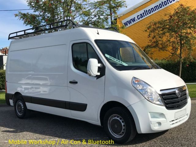 2013 62 VAUXHALL MOVANO F3500 L2 MWB CDTI 124 [ MOBILE WORKSHOP ] H2 Van Free UK Delivery