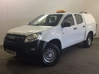 USED 2014 14 ISUZU D-MAX 2.5 TD DCB 1d 164 BHP AIR CON TRUCKMAN TOP ONE OWNER FSH COMMERCIAL (£10400+£2080VAT). 4WD. TRUCKMAN TOP. STUNNING WHITE WITH CONTRASTING BLACK CLOTH TRIM. AIR CON. R/CD PLAYER. PRIVACY. LOAD LINER KIT. 6 SPEED MANUAL. PAS. EW. TOWBAR. MOT 06/18. ONE OWNER FROM NEW. FULL SERVICE HISTORY. FCA FINANCE APPROVED DEALER. TEL 01937 849492