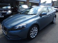 USED 2013 13 VOLVO V40 1.6 D2 SE LUX NAV 5d 113 BHP  POWER BLUE/BEIGE LEATHER
