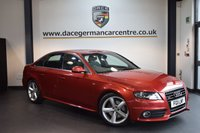 USED 2011 11 AUDI A4 3.0 TDI QUATTRO S LINE 4DR 240 BHP + FULL BLACK LEATHER INTERIOR + FULL SERVICE HISTORY + BLUETOOTH + SPORT SEATS + CRUISE CONTROL + AUXILIARY PORT + HEATED MIRRORS + PARKING SENSORS + 17 INCH ALLOY WHEELS +