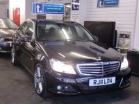"""USED 2011 11 MERCEDES-BENZ C CLASS 2.1 C200 CDI BLUEEFFICIENCY SE EDITION 125 4d 136 BHP Huge value for money-stunning looking car with excellent service history-brand new 18""""AMG Style alloys,MB black interior,6 speed,park sensors,-must be viewed"""