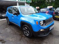 USED 2015 15 JEEP RENEGADE 1.6 M-JET SPORT 5d 118 BHP Full Service History, One Owner from new, MOT until April 2018, Great on fuel! Only £30 Road Tax! Balance of Jeep Warranty until 2018, Diesel, Four Wheel Drive