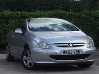 USED 2004 53 PEUGEOT 307 2.0 COUPE CABRIOLET 2d 135 BHP FULL LEATHER SEATS # CLIMATE CONTROL/AIR CONDITIONING # FULL MOT # 1 YEAR AA ROADSIDE ASSIST