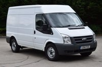 USED 2011 61 FORD TRANSIT 2.2 350 MEDIUM ROOF 5d 115 BHP MWB FWD AIR CON DIESEL PANEL MANUAL VAN ONE OWNER F/SH SPARE KEY