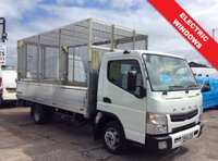 2012 MITSUBISHI FUSO CANTER LWB 3.0 3C13 34 C/C 129 BHP DROPSIDE CAGED BODY WITH TAIL LIFT £11995.00