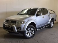 USED 2011 11 MITSUBISHI L200 2.5 DI-D 4X4 BARBARIAN LB DCB 1d 175 BHP SAT NAV LEATHER SIDE STEPS PRIVACY FSH NO VAT ( NO VAT ). 4WD. SATELLITE NAVIGATION. STUNNING SILVER MET WITH FULL BLACK BARBARIAN LEATHER TRIM. SIDE STEPS. CRUISE CONTROL. AIR CON. 17 INCH ALLOYS. COLOUR CODED TRIMS. PRIVACY GLASS. REVERSING CAMERA. BLUETOOTH PREP. AIR CON. PAS. EW. TOWBAR. MOT 06/18. FULL SERVICE HISTORY. FCA FINANCE APPROVED DEALER. TEL 01937 849492