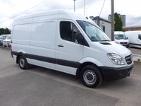 USED 2012 62 MERCEDES-BENZ SPRINTER 313 CDI MWB HI ROOF, 130 BHP [EURO 5], FULL SERVICE HISTORY, 1 FORMER OWNER