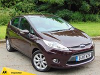 USED 2010 10 FORD FIESTA 1.4 ZETEC 16V 5d AUTO 96 BHP LOW MILEAGE AND FULL SERVICE HISTORY