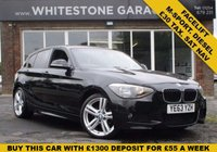 USED 2013 63 BMW 1 SERIES 2.0 118D M SPORT 5d 141 BHP M-SPORT ,LOW MILEAGE £30TAX, SAT NAV, CRUISE CONTROL, CLIMATE CONTROL
