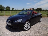 USED 2012 61 VOLKSWAGEN GOLF 1.6 S TDI BLUEMOTION TECHNOLOGY 2d 104 BHP RED LEATHER + SUPERB SPECIFICATION + FSH