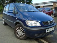 USED 2005 55 VAUXHALL ZAFIRA 1.6 DESIGN 16V 5d 99 BHP GREAT VALUE 7 SEATER+NEW MOT
