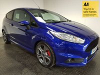 USED 2014 14 FORD FIESTA 1.6 ST-2 3d 180 BHP FSH-1 OWNER-LEATHER-BLUETOOTH-A/C