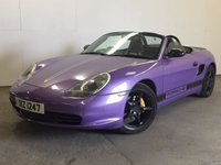 USED 2003 53 PORSCHE BOXSTER 2.7 SPYDER 2d 228 BHP BODYKIT LEATHER ELECTRIC ROOF FSH BODYKIT. SPARKLING PURPLE BODYWRAP. BOOT SPOILER. ELECTRIC FOLDING ROOF. FULL BLACK LEATHER. 18 INCH UPGRADED ALLOYS. COLOUR CODED TRIMS. AIR CON. R/CD PLAYER. MOT 04/18. FULL SERVICE HISTORY. TEL 01937 849492