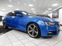 USED 2013 13 AUDI A5 3.0 TDI QUATTRO BLACK EDITION S TRONIC SPORTBACK  SPRINT BLUE DRIVE SELECT FASH