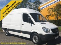 USED 2013 13 MERCEDES-BENZ SPRINTER 316 CDI 163 Mwb Hi Roof [ MOBILE WORKSHOP+MESS-GENERATOR ] Van