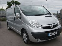 USED 2014 14 VAUXHALL VIVARO 2.0 2900 CDTI SPORTIVE LWB  113 BHP VAN ALLOYS, AIR CON, READY TO GO