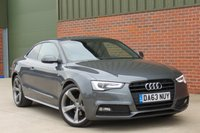 USED 2013 63 AUDI A5 2.0 TDI S LINE BLACK EDITION 2d AUTO 177 BHP AUTOMATIC, B + O SOUND SYSTEM, BLUETOOTH, FULL LEATHER